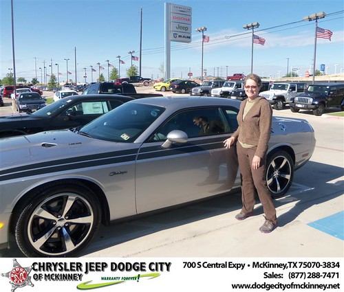 Dodge City of McKinney would like to say Congratulations to Scott Cook on the 2013 Dodge Challenger by Dodge City McKinney Texas