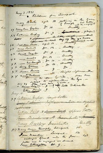 Physician's prescription book, 3 May 1831