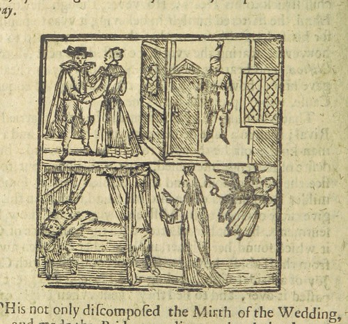 "Image taken from page 22 of 'Bateman's Tragedy: or, the Perjur'd Bride justly rewarded. Being the history of the unfortunate love of German's wife and young Bateman. [A chap-book, in prose, with the original ballad, entitled ""A Godly Warning to all Maiden"
