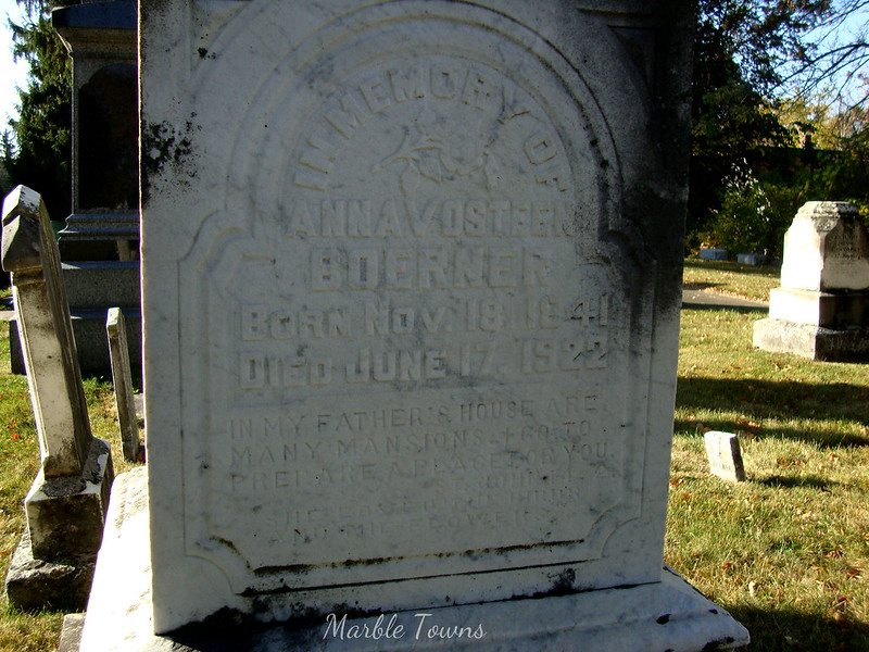 Cedarburg Anna Boerner with epitaph