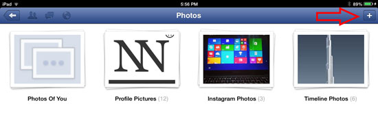 How to Upload Photos or Pictures on Facebook using iOS 2