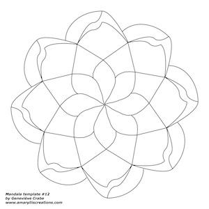 Mandala template #12