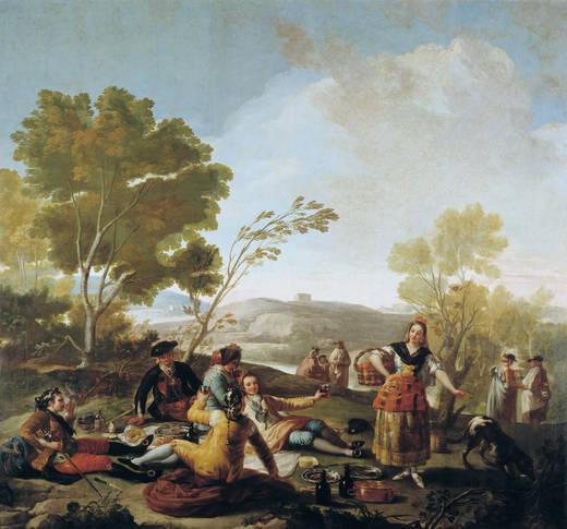 La merienda a orillas del Manzanares. Francisco de Goya. Óleo sobre lienzo. 1776