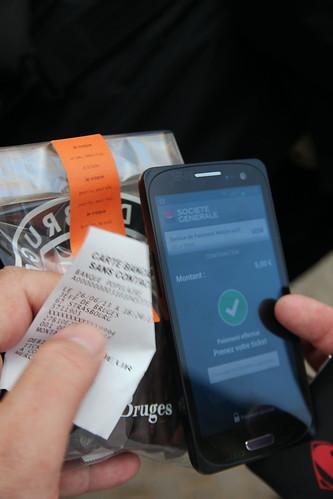 Paiement sans contact NFC chez Jeff de Bruges