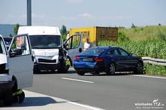 Auffahrunfall A3 Breckenheim 19.07.13