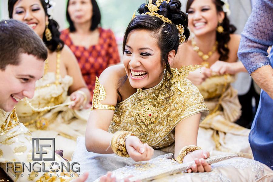 Cambodian wedding sword ceremony