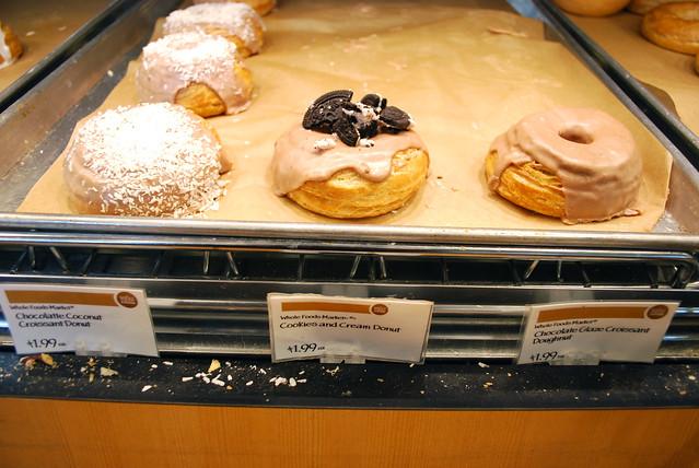 Whole Food Croissant Doughnut display