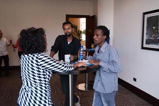 From left Melkeas Adugna of New Business Ethiopia, Oliad Woji of Fana Broadcasting and Frehiwot Yilma of UNICEF Ethiopia,