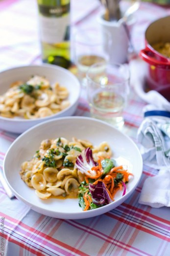 Orecchiette with Capers and White Wine