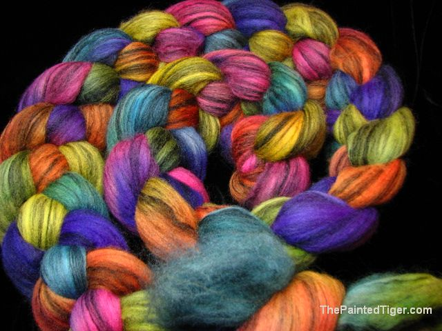 Tropical Rainbow Merino Silk