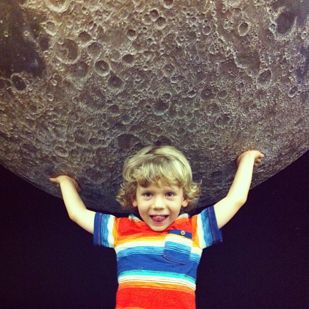 Holding up the moon