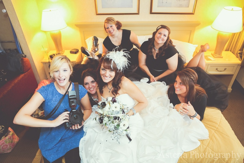 Posing with our awesome photographer (Andrew & Lauren's wedding)