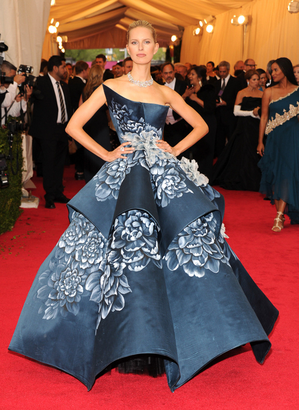 2014 Met Ball Best Dressed Karolina Kurkova in Marchesa