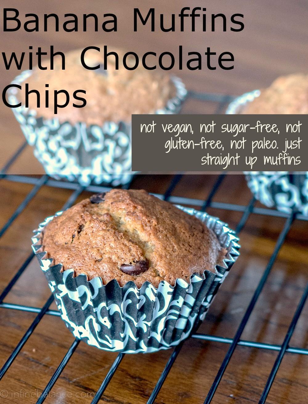Banana Chocolate Chip Muffins | infinebalance.com