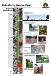 Bike Walk Lincoln Park's proposal for Clark Street.