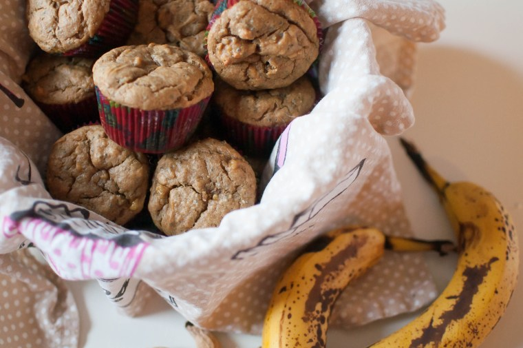Peanut Butter Banana Muffins {gluten and dairy free) 4