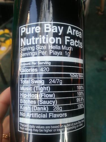 Bay Area Nutrition Facts by @lakitalki