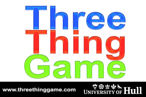 It's time for Three Thing Game again!