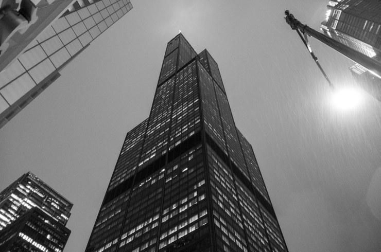 Willis Tower (aka Sears Tower) - rainy night