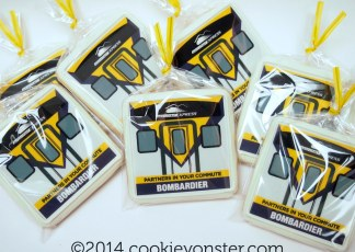 Bombardier corporate logo Shortbread cookies