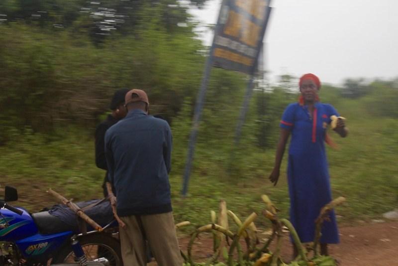 Buying plantain in Ondo, Nigeria.