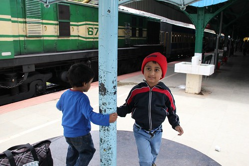 Palying at Ooty station