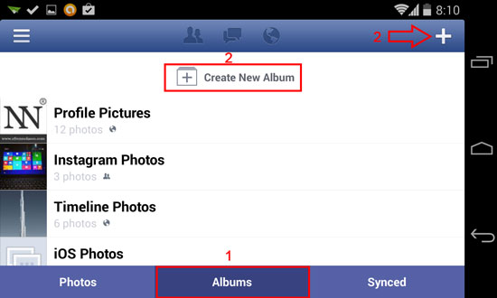 How to Upload Photos or Pictures on Facebook using Android device