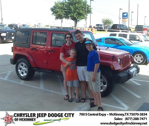 Thank you to Chad Daigle on the 2013 Jeep Wrangler Unlimited from Joe Ferguson  and everyone at Dodge City of McKinney! - Copy by Dodge City McKinney Texas