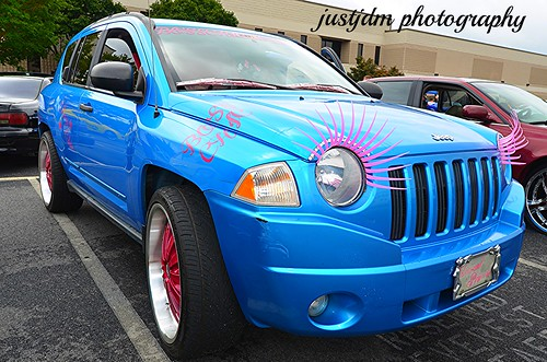 kutting corners auto show jeep with lashes (4)