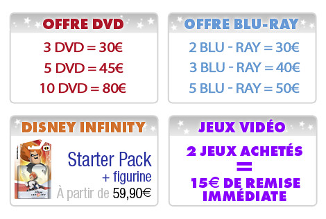 Détail promo Disney Amazon