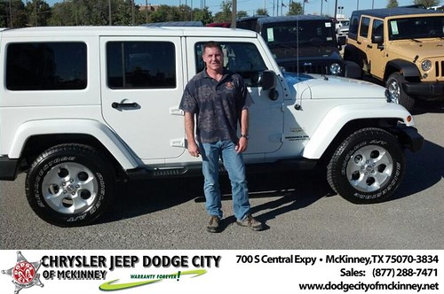 Thank you to David Jones on your new 2014 #Jeep #Wrangler Unlimited from Brian Purnell and everyone at Dodge City of McKinney! #LoveMyNewCar by Dodge City McKinney Texas