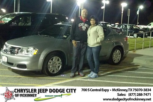 Thank you to Jose Cruz on your new 2013 #Dodge #Avenger from Bobby Crosby and everyone at Dodge City of McKinney! #NewCar by Dodge City McKinney Texas