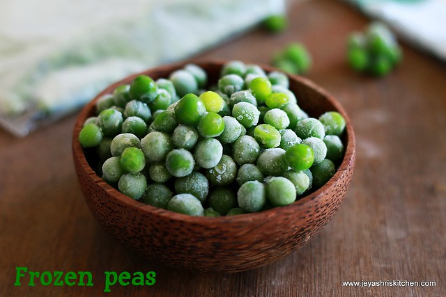 How to freeze peas