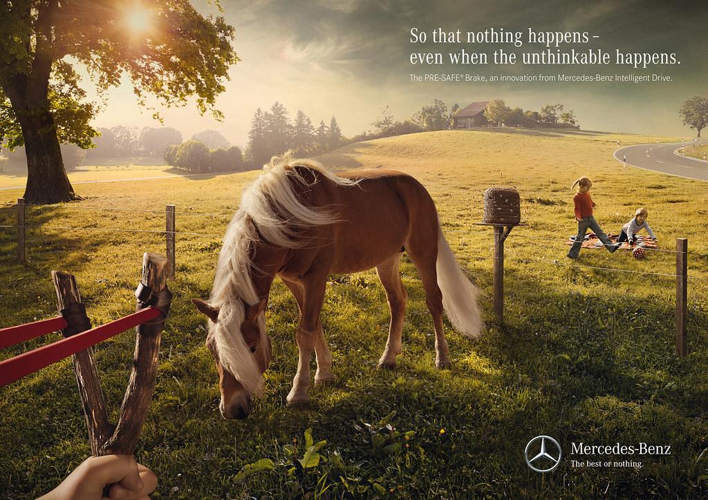 Mercedes-Benz Intelligent Drive Pre-Safe Brake - Horse