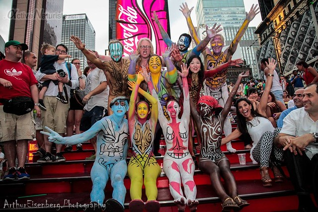 naturist 0016 body paint art, Times Square, New York, NY, USA