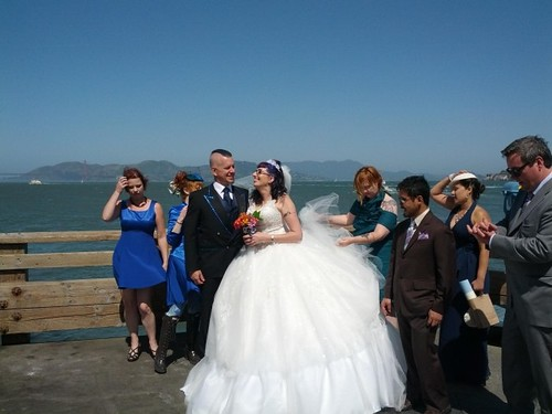 Unexpectedly, we had time for actual wedding photos on the pier