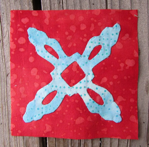 Hawaiian applique in red and aqua... by ruthiequilts