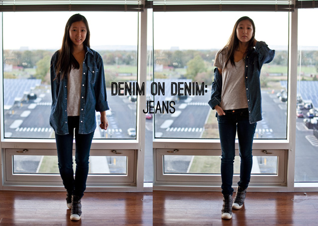 casual wear, oversized denim shirt, style guide, how to wear oversized denim shirt, how to, fashion, fall fashion, denim on denim, comfortable layers, 3 ways to wear oversized denim shirt