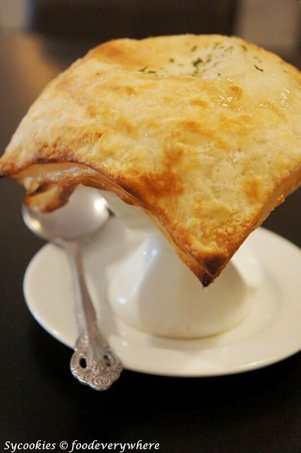 3.Cream of Mushroom Soup Topped with Pastry- Homemade fresh mushroom soup baked with puff pastry RM 9.90 (6)