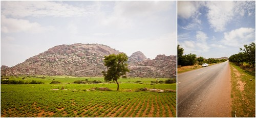 Scenic views along Hiriyur-Bellary highway