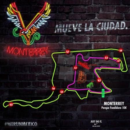 Ruta de la carrera Nike We Run Monterrey – RunMX 3e81a3d36cc7b