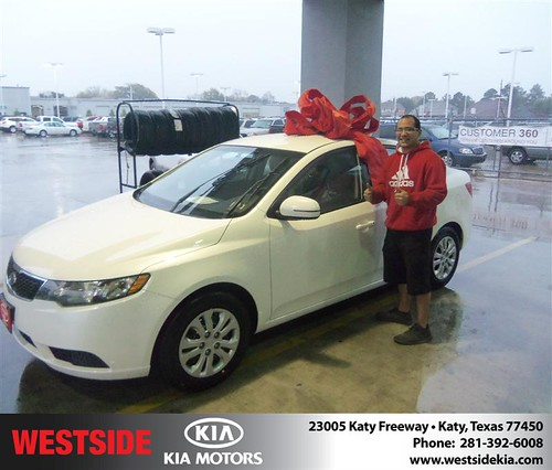 Happy Anniversary to Gertrudis G Zelaya on your 2013 #Kia #Forte from Guzman Gilbert and everyone at Westside Kia! #Anniversary by Westside KIA