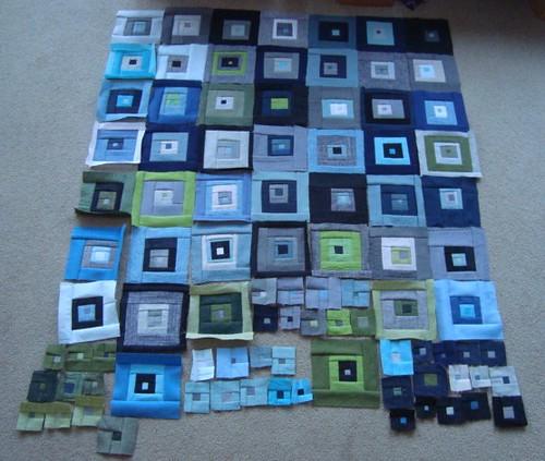 Blue-Green quilt blocks