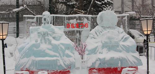 札幌雪祭りの雪像