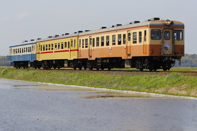Hitachinaka Seaside Railway DC kiha 222+kiha 2004+kiha 205