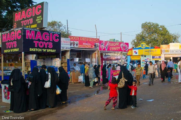 women burka shopping Numaish Hyderabad