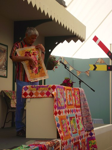 Kaffe Fassett at Hampton Court Flower Show