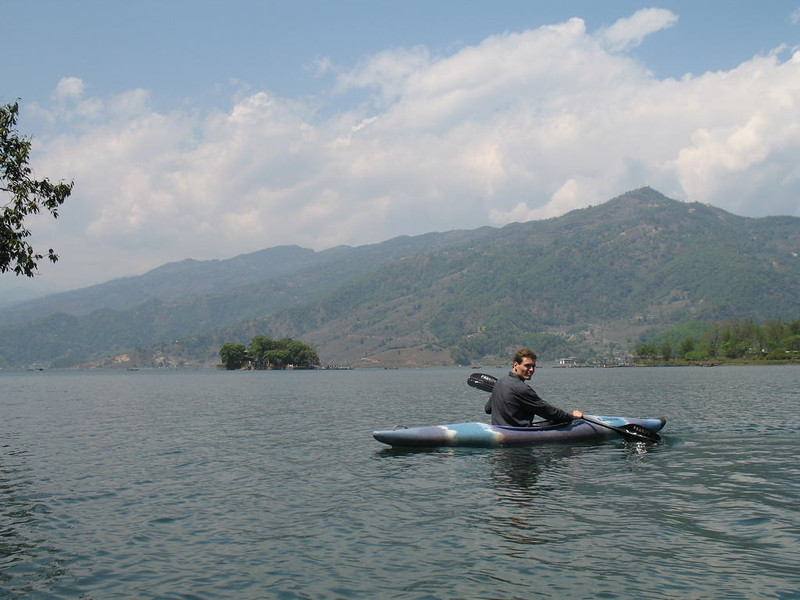 Kayaking on Phewa Lake