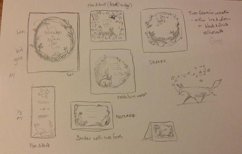 Emily - invitation sketches