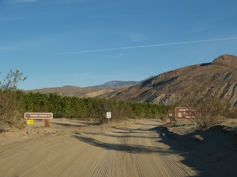 Coyote Canyon Road at DiGiorgio Road in Borrego Springs